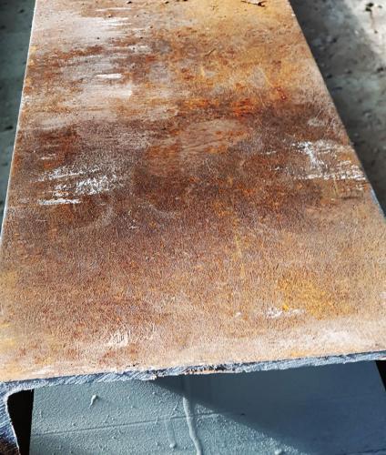 Metalo konstrukcijų šratavimas.Prieš